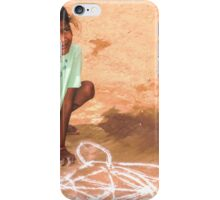 Able and disabled - Girl in Alanganeri village, India iPhone Case/Skin