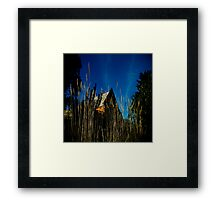 ashes 'round the yard Framed Print