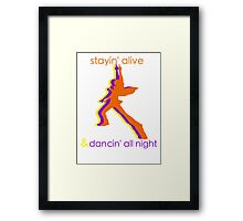 p4 Dancing All Night! Framed Print