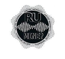 R U Mine? Gry/Blk/Blk Photographic Print