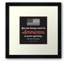 Teenage America Framed Print