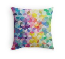 Colourful Cubes Throw Pillow