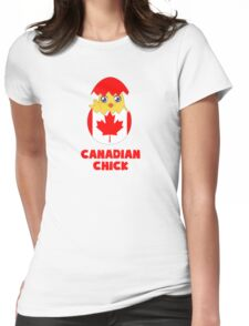 Canadian Chick, a Girl From Canada Womens Fitted T-Shirt