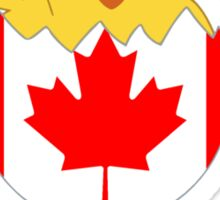 Canadian Chick, a Girl From Canada Sticker