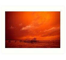 bushfire sky - Gippsland 2006 Art Print
