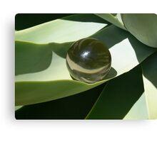 Smokey quartz sphere nested Canvas Print