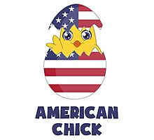 American Chick, a Girl From America Photographic Print
