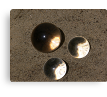 Cystal conjunction on sand Canvas Print