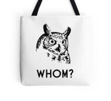 Hoo Who Whom Grammar Owl Tote Bag