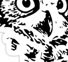Hoo Who Whom Grammar Owl Sticker