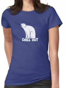 Chill Out Polar Bear Womens Fitted T-Shirt