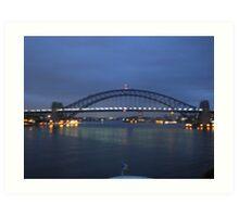 Fuzzy Bridge 1 Art Print