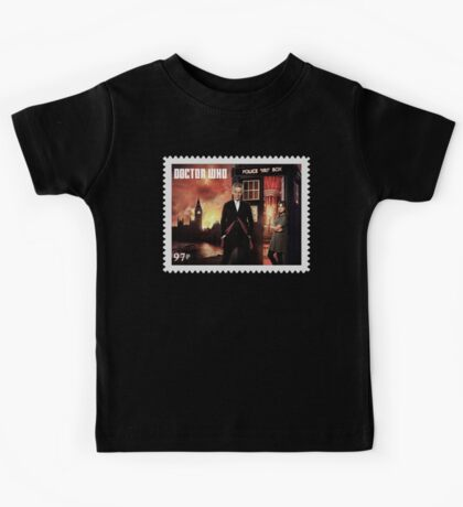 Doctor Who Postage Stamp Kids Tee
