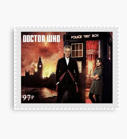 Doctor Who Postage Stamp Canvas Print