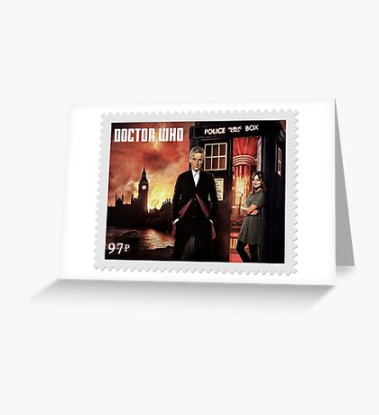 Doctor Who Postage Stamp Greeting Card