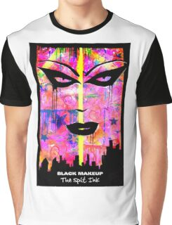 BLACK MAKEUP. The Spilt Ink Graphic T-Shirt