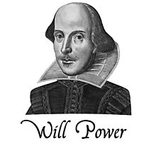 William Shakespeare Will Power Photographic Print
