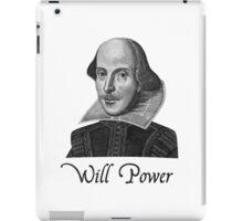 William Shakespeare Will Power iPad Case/Skin