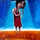 """Winter"" (Red Dust Girl series) Oil on Canvas by Leith"