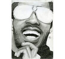 Stevie Wonder - Graphite Portrait Photographic Print