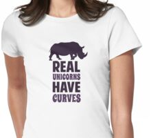 Real Unicorns Have Curves Womens Fitted T-Shirt