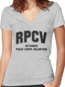 Peace Corps Volunteers Women's Fitted V-Neck T-Shirt