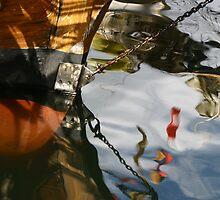 Wooden Boat Reflections by Noel Elliot