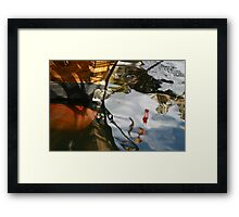 Wooden Boat Reflections Framed Print