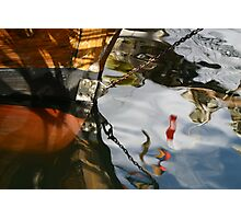 Wooden Boat Reflections Photographic Print