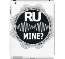 R U Mine? White Text, Gry/Blck iPad Case/Skin