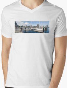 Docklands Panorama Mens V-Neck T-Shirt