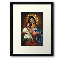 The Virgin Pornstar & Yeezus Framed Print