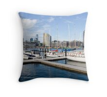 Docklands Panorama Throw Pillow