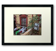 Turn off the tele - live your life Framed Print