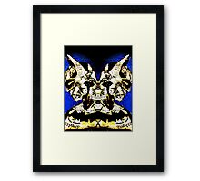 Mirrored Bat Framed Print
