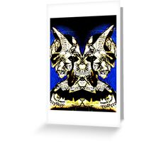 Mirrored Bat Greeting Card