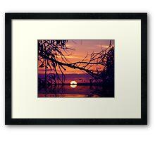 LiquidSunset Framed Print