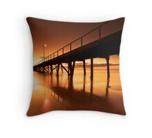 Golden Sands - Semaphore Jetty Throw Pillow
