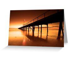 Golden Sands - Semaphore Jetty Greeting Card
