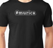 Murica - Hashtag - Black & White Unisex T-Shirt