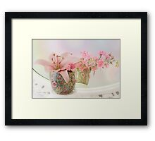 Pink Lily Rainbow Framed Print