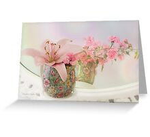 Pink Lily Rainbow Greeting Card