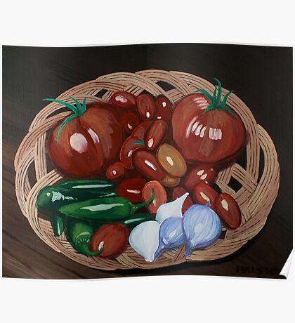 Basket of Veggies Poster