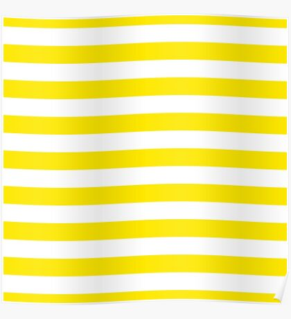 Bee stripes pattern, yellow, brown, black lines Poster