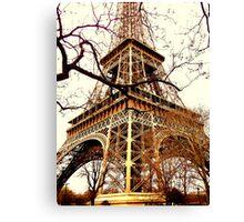 Rustic Eiffel Canvas Print