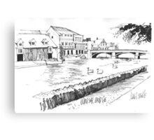Windsor Eton bridge from the Thames Canvas Print
