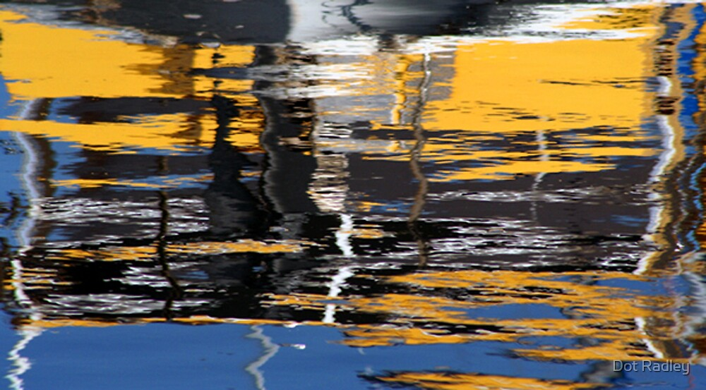 Boat abstract by Dot Radley