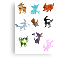 Eeveelutions // Together Canvas Print