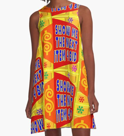 TV Game Show - TPIR (The Price Is...)Next Item 4 Bid A-Line Dress
