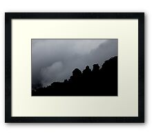 Amongst the clouds Framed Print